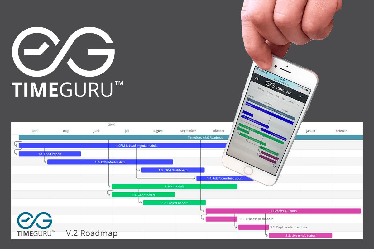 Gantt kort til Projekter på mobilen