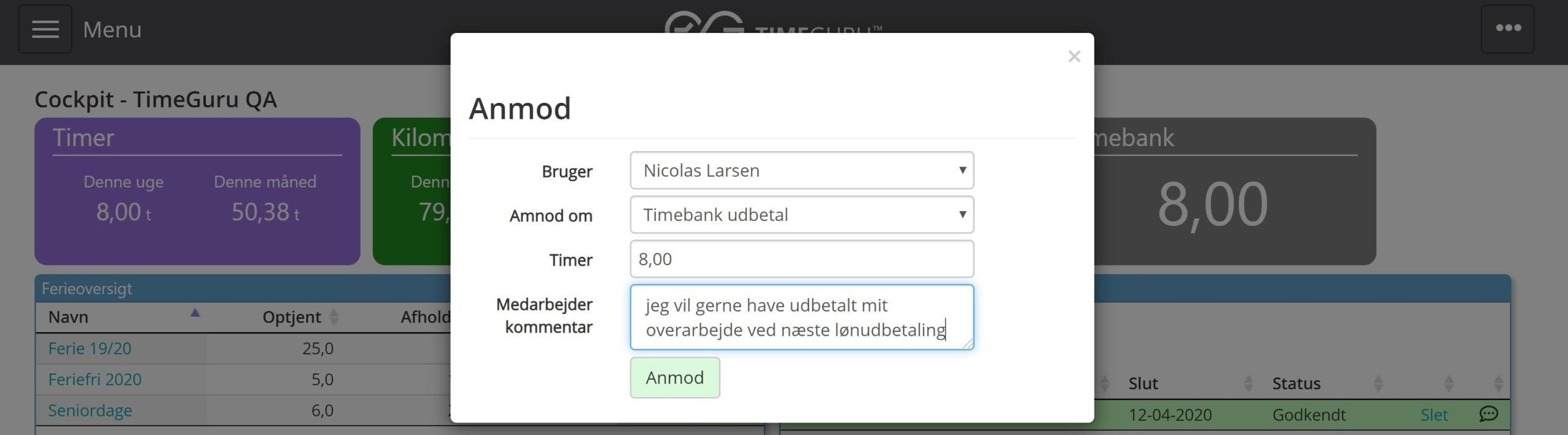 Timebank anmod