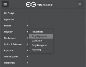 TimeGuru menu